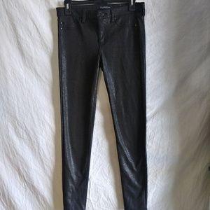 Liverpool jeans com black snake skin leggings sz 6